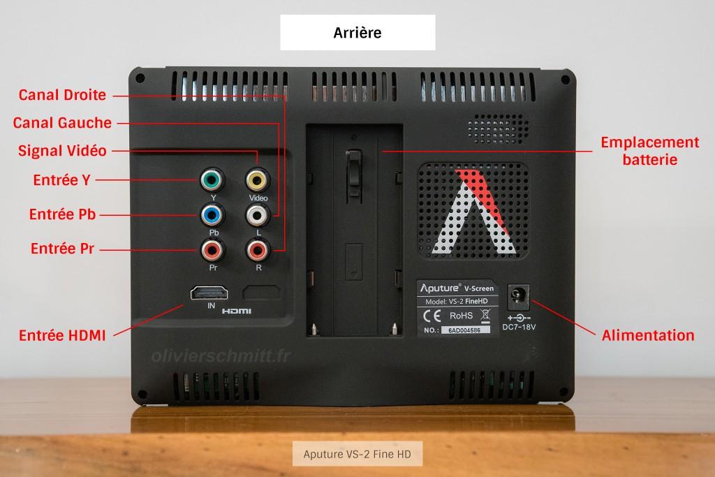 Aputure VS-2 Fine HD - Arrière